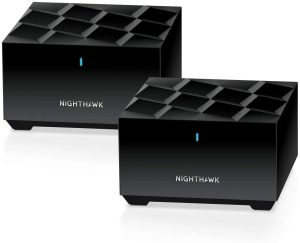 Netgear Nighthawk Dual-Band AX1800 Whole Home Mesh Wi-Fi 6 System, Smooth video streaming and fast online gaming, Strong Connection up to 3,000 Sq. Ft. - MK62-100CNS