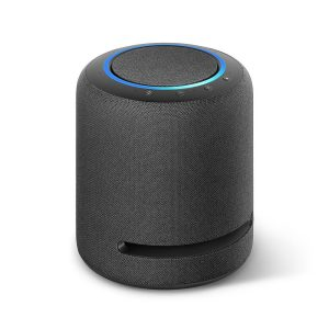 Amazon Echo Studio speaker black, Smart speaker with high-fidelity audio, Dolby Atmos and Alexa, Built-in smart home hub, Immersive sound - 53-021309