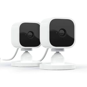 Blink Two Camera Indoor System, 1080P HD indoor, plug-in security camera with motion detection and two way audio - White - 53-023439