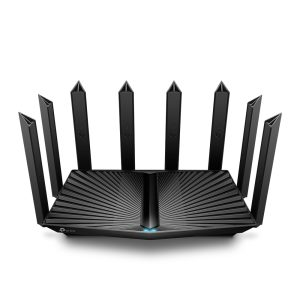 TP-Link AX6600 Tri-Band Wi-Fi 6 Gaming Router. Stream 8K content, up to 3X faster, 1× 2.5 Gbps WAN/LAN Port Parental controls -Archer AX90