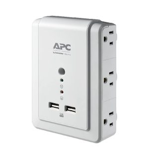 APC 6-Outlet Wall Surge Protector