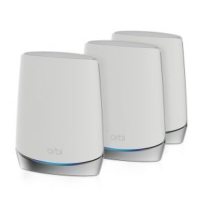 NETGEAR Orbi 8-Stream Tri-Band AX4200 Whole Home Mesh WiFi 6 System with Advanced Cyber Threat Protection 4.2Gbps, 8 Streams, Enjoy 4K/8K UHD Streaming, 2 Satellites - RBK753S-100CNS