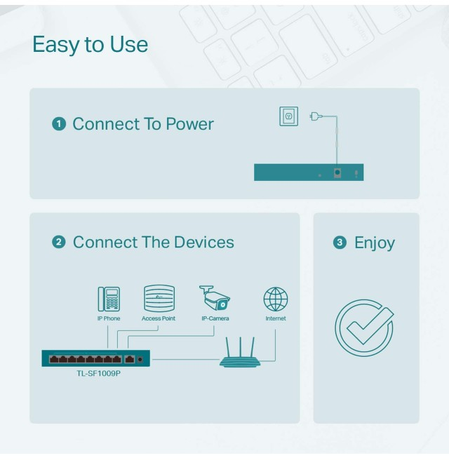 TP-Link 9 Port Ethernet